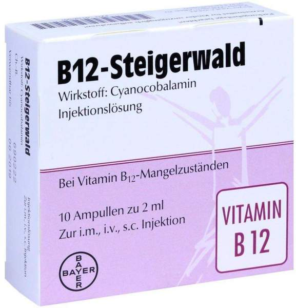 B12 Steigerwald 10 X 2 ml Injektionslösung