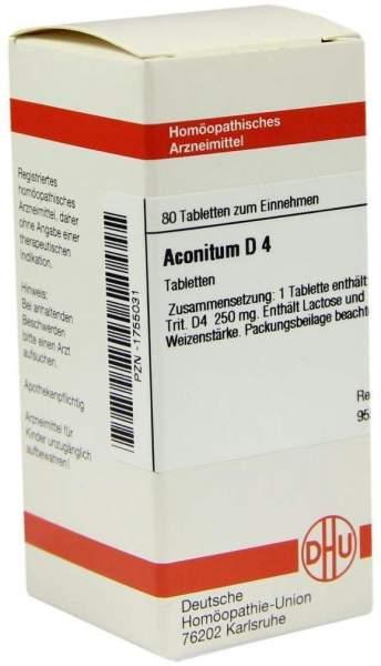 Aconitum D4 80 Tabletten