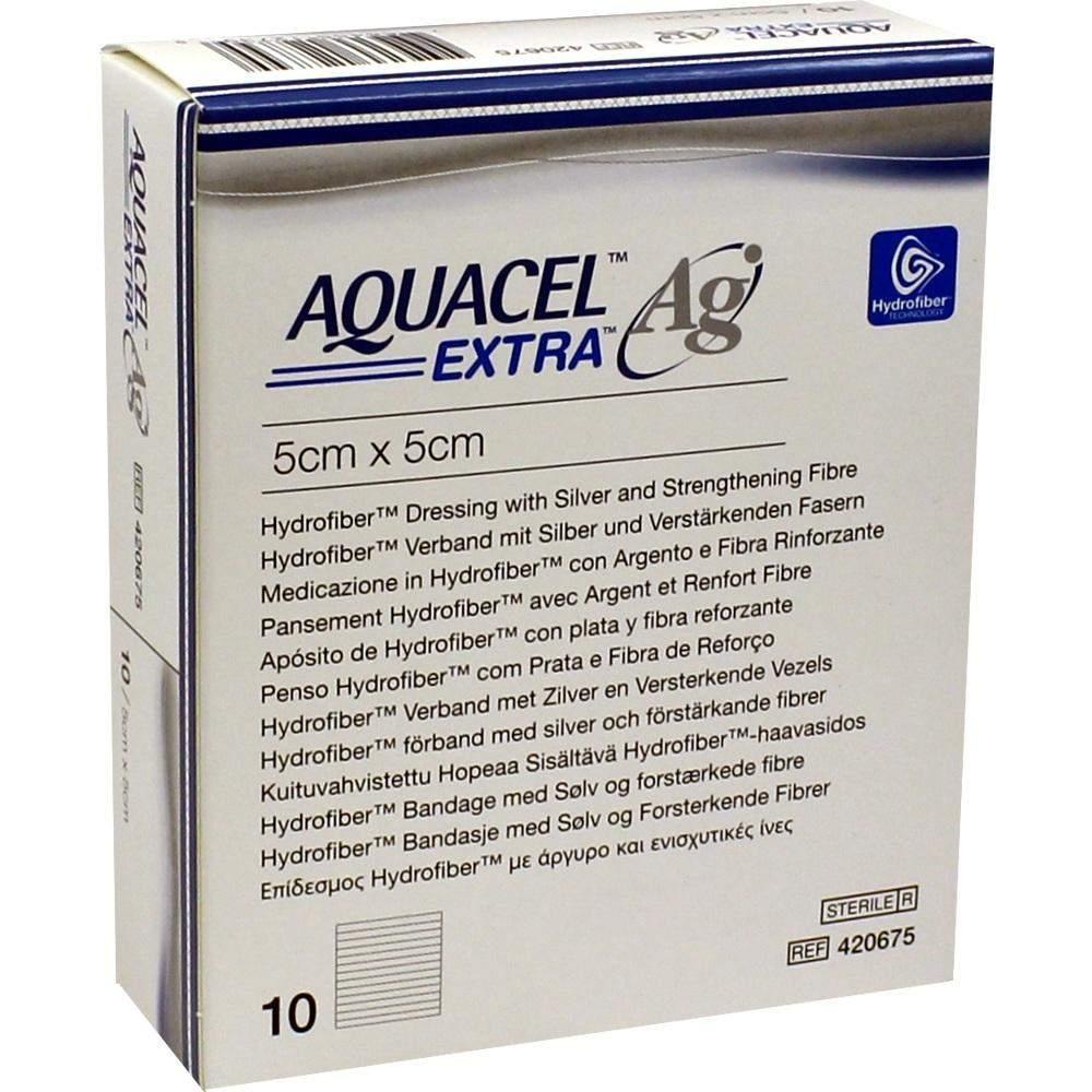 Aquacel Ag extra 5 x 5 cm 10 Kompressen