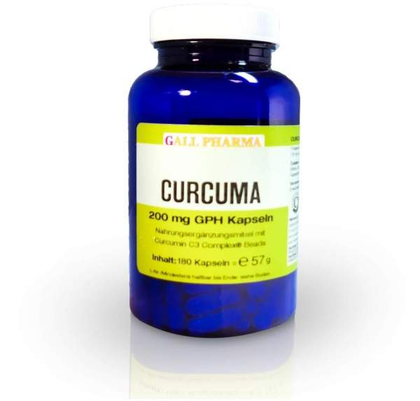 Curcuma 200 mg 180 Kapseln
