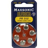 Batterien für Hörgeräte Maxsonic Pr312 6 Stück