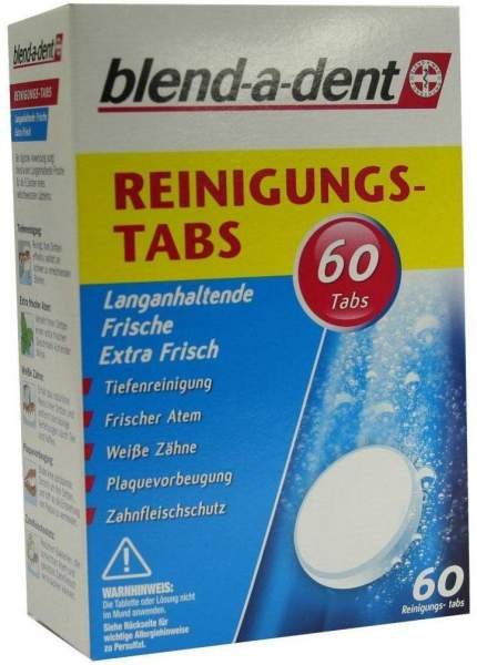 Blend A Dent Reinigungs Tabs Langanhaltende Frische 60 Stück
