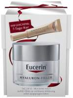 Eucerin Anti - Age Hyaluron - Filler Tag trockene Haut 50 ml + gratis Elasticity+ Filler Gesichts-Öl