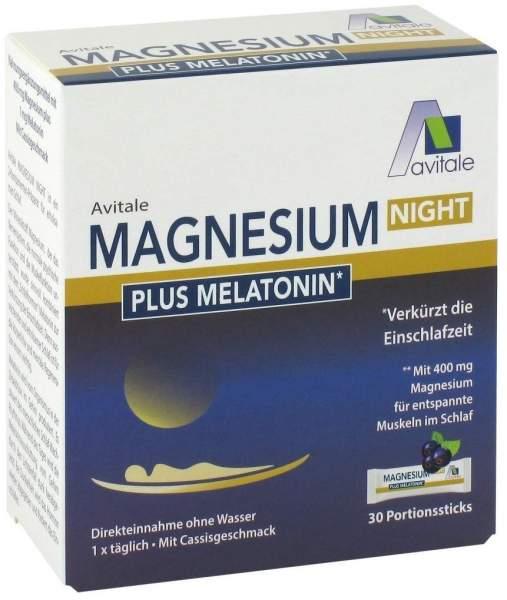 Magnesium Night plus Melatonin 30 Portionsbeutel
