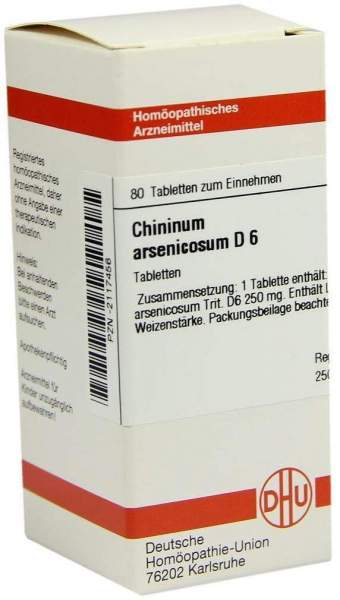 Chininum Arsenicosum D6 80 Tabletten