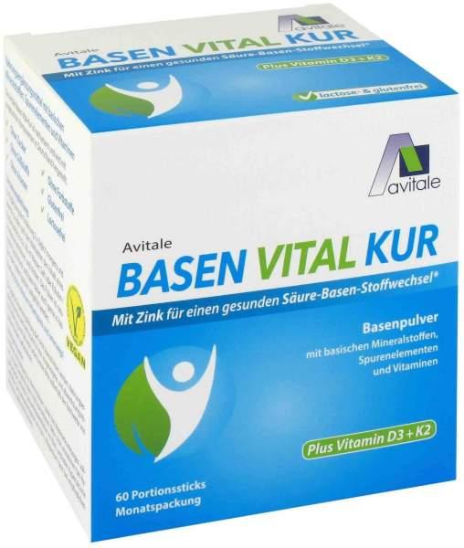 Basen Vital Kur plus Vitamin D3 + K2 60 Portionsticks