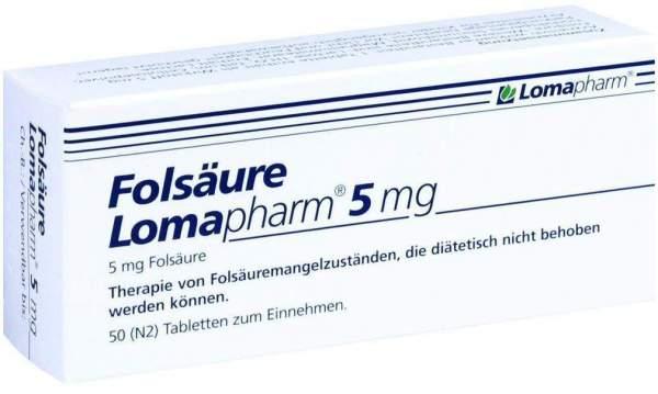 Folsäure Lomapharm 5 mg 50 Tabletten