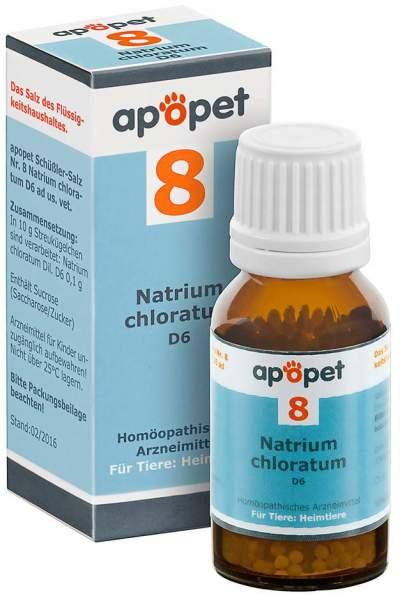 Apopet Schüßler-Salz Nr.8 Natrium Chloratum D6 vet. Globuli