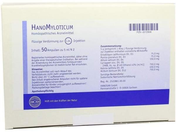Hanomyloticum Injektionslösung 50 X 5 ml Injektionslösung
