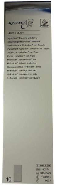 Aquacel AG 4x30cm Hydrofiberverband Mit Silber