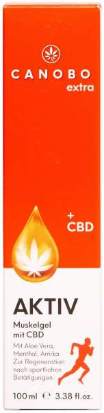 Canobo extra Pur - Aktiv Muskelgel mit CBD 100 ml