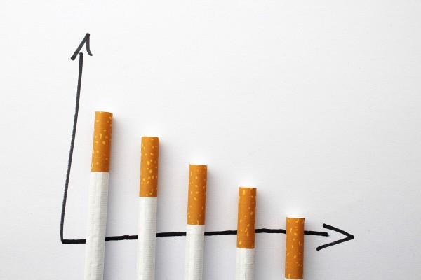 Diagramm mit Zigaretten