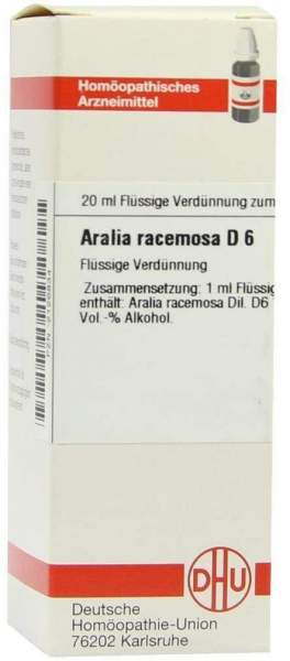 Dhu Aralia Racemosa D6 Dilution