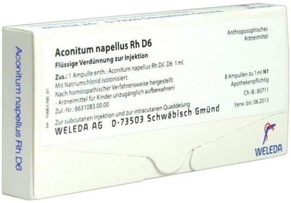 Aconitum napellus Rh D 6 Weleda 8 x 1 ml Ampullen