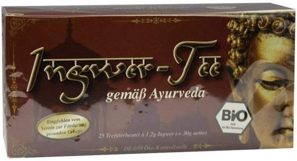 Bio Ingwer Tee Gemäß Ayurveda 25 Filterbeutel