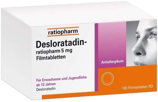 Desloratadin-ratiopharm 5 mg 100 Filmtabletten