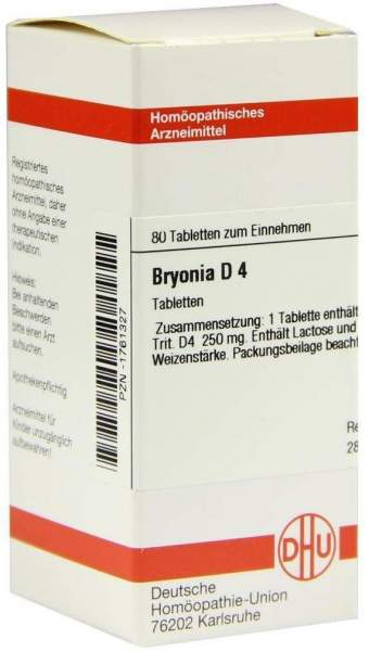 Bryonia D4 Dhu 80 Tabletten