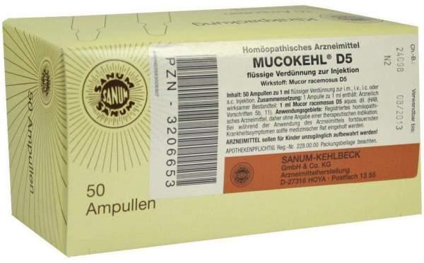 Mucokehl Ampullen D 5 50 X 1 ml Ampullen