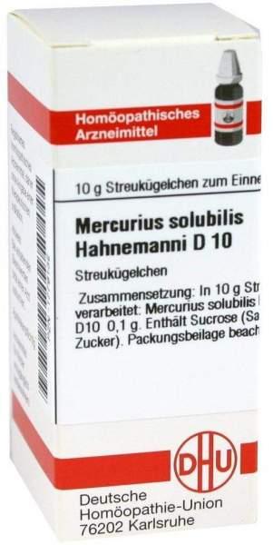 Mercurius Solubilis D 10 Globuli Hahnemann
