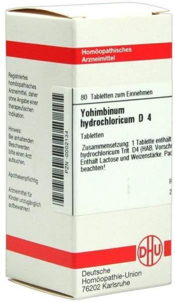 Yohimbinum Hydrochlorid D4 80 Tabletten