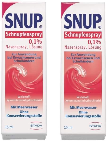 Snup Schnupfenspray 0,1 % Nasenspray 2 x 15 ml