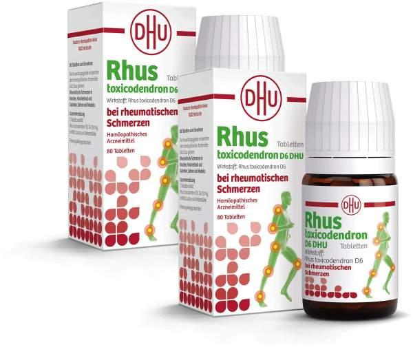 Sparset DHU Rhus tox. D6 2 x 80 Tabletten