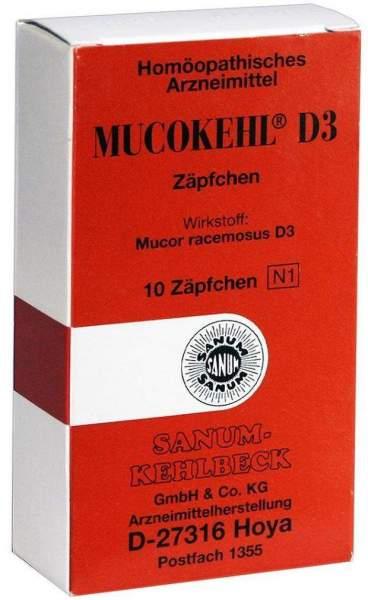 Mucokehl Suppos. D3 10 Zäpfchen