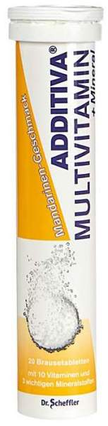 Additiva Multivitamin + Mmineral Mandarine 20 Brausetabletten