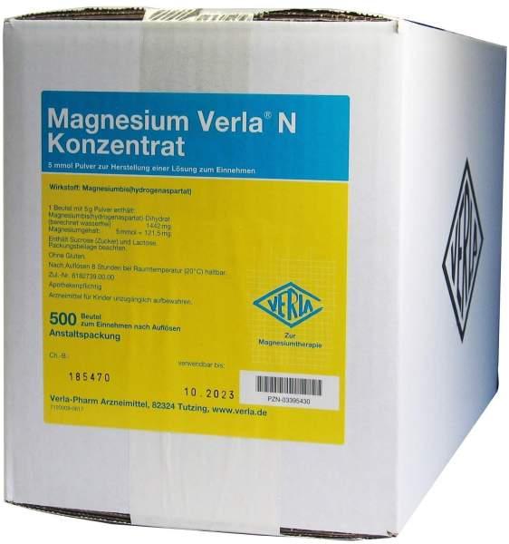 Magnesium Verla N Konzentrat 500 Pulver