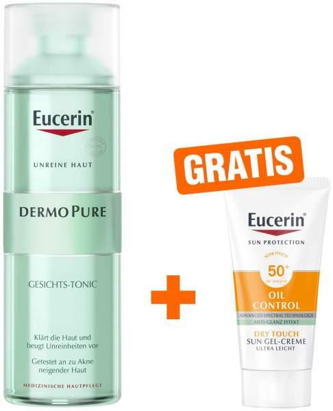 Eucerin DermoPure Gesichts-Tonic 200 ml Tonikum + gratis Sun Gel-Creme 50+ 20 ml Gesicht