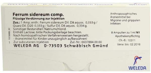Ferrum sidereum comp. Weleda 8 x 1 ml Ampullen