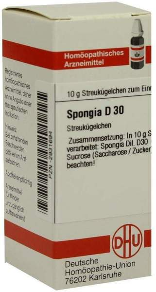 Spongia D 30 10 G Globuli