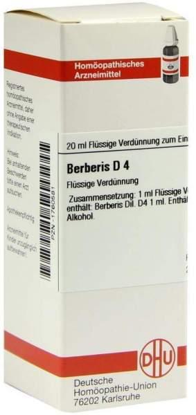 Berberis D 4 20 ml Dilution