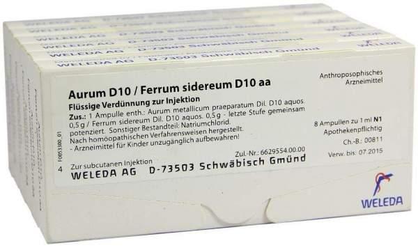 Weleda Aurum D10 Ferrum Sidereum D10 Aa 48 X 1 ml