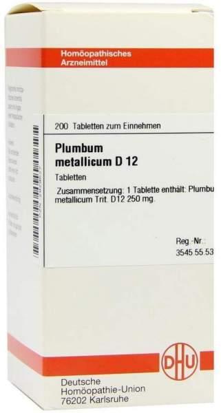 Plumbum Metallicum D12 Dhu 200 Tabletten