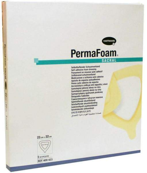 Permafoam Sacral Schaumverband 22x22cm