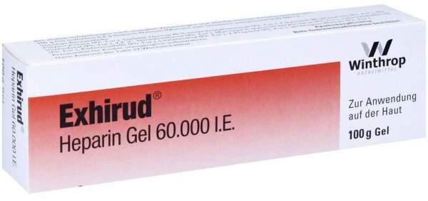 Exhirud Heparin Gel 60000 I.E. 100 G Gel