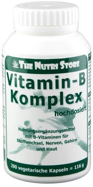 Vitamin B Komplex Hochdosiert 200 Kapseln
