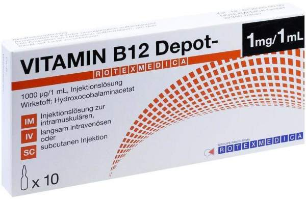 B12 Depot Rotexmedia 10 x 1 ml Injektionslösung
