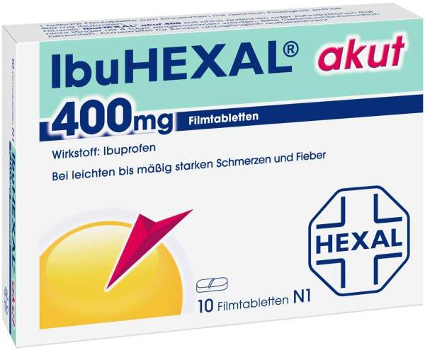 IbuHexal akut 400 mg 10 Filmtabletten