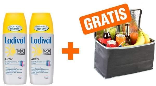 Sparset 2 x Ladival Sonnenschutz Spray LSF 30 150 ml + gratis Kühltasche