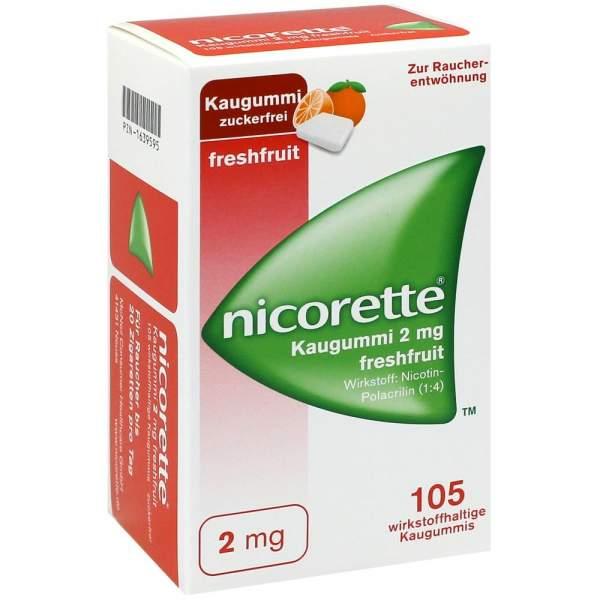 Nicorette 2 mg Freshfruit Kaugummi 105 Stück
