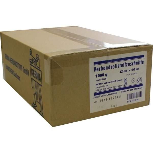 Verbandzellstoff Zuschnitte 12x20cm hochgebleicht 1 kg