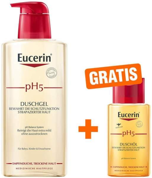 Eucerin pH5 Duschgel 400 ml + gratis pH5 Duschöl 100 ml