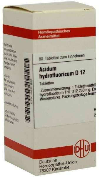 Acidum Hydrofluoricum D12 80 Tabletten