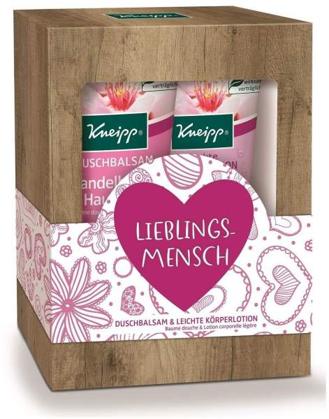 Kneipp Geschenkpackung Lieblingsmensch Mandelblüten Hautzart 2 x 200 ml