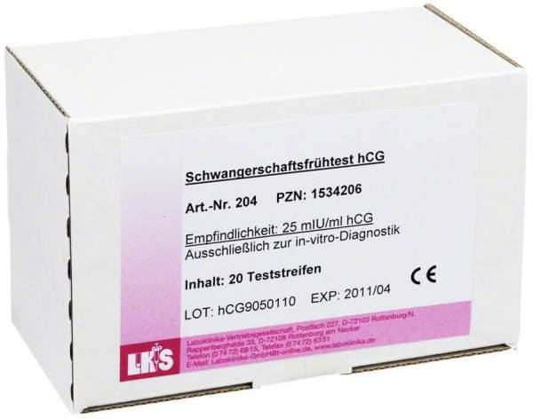 Schwangerschafts Frühtest Urin Hcg Teststreifen 20 Teststreifen