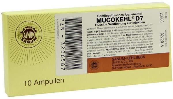 Mucokehl Ampullen D 7 10 X 1 ml Ampullen